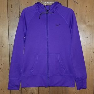 Nike Therma Fit Womens Zip Hoodie Purple Size M